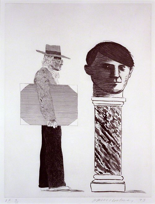 Hockney 'The Student - Homage to Picasso