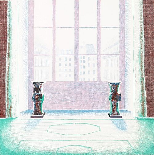 Hockney. Two Vases in the Louvre, 1974
