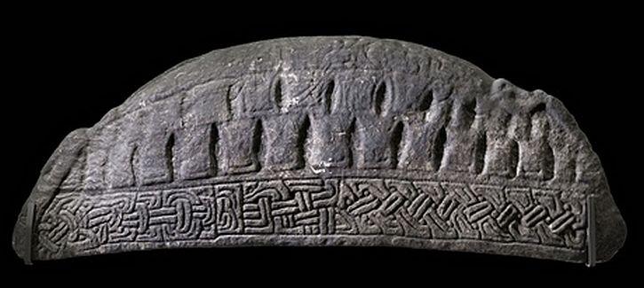 A hogback tombstone from Govan Old Parish Church, Glasgow