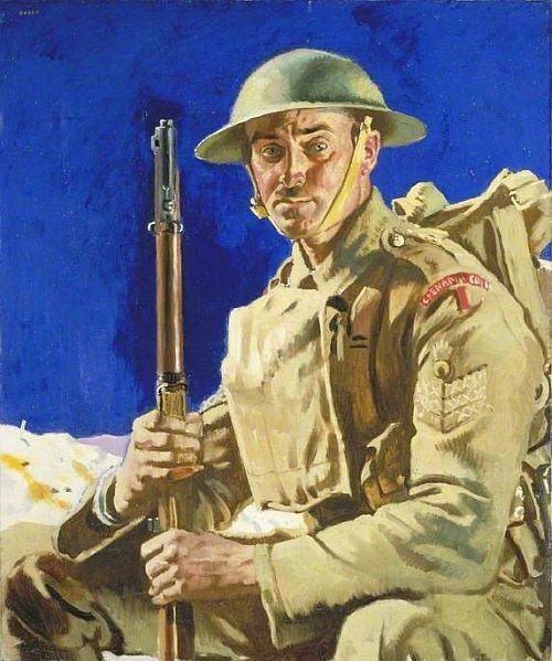 Orpen, A Grenadier Guardsman, 1917