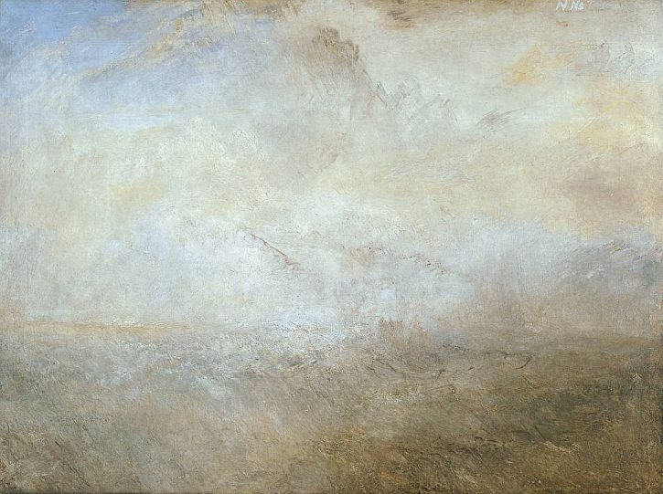 Seascape with Distant Coast, c 1840