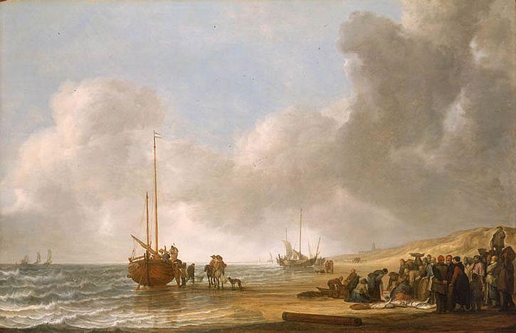 Simon de Vlieger, The Beach at Scheveningen
