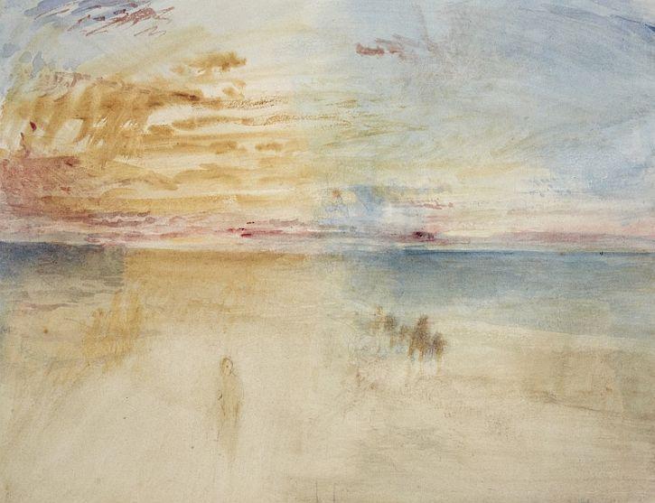 Sunset on Wet Sand, 1845