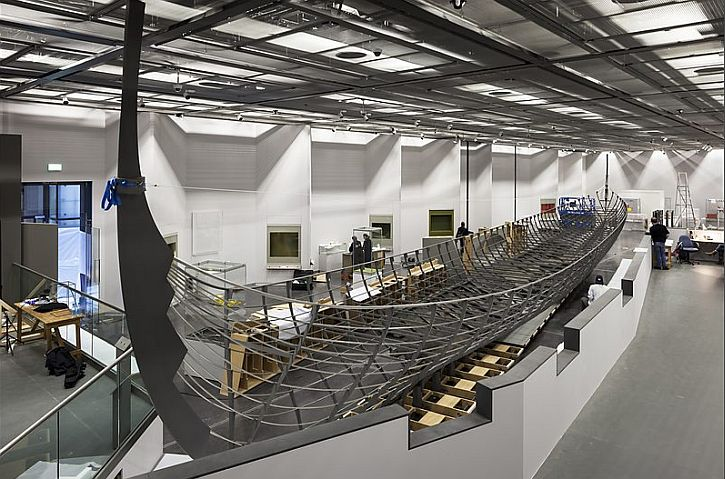 The installation of Roskilde 6 at the British Museum in the Sainsbury Exhibitions Gallery