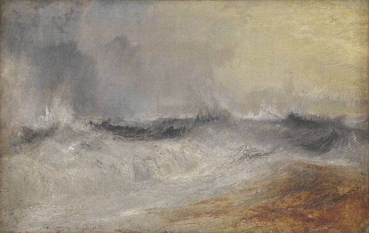 Waves Breaking against the Wind, c.1840