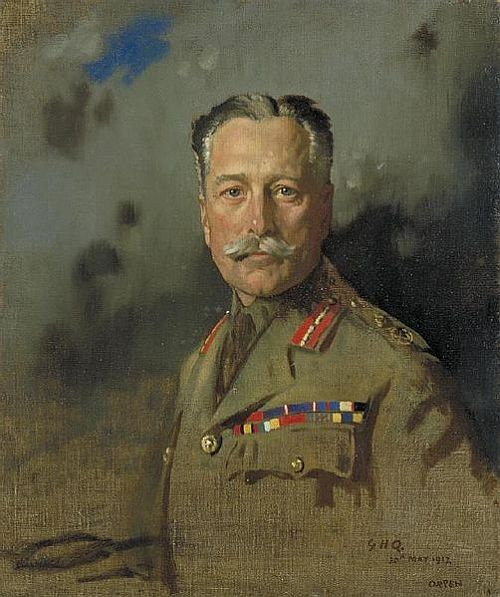 William Orpen, Portrait of Haig at General Headquarters, France, 1917