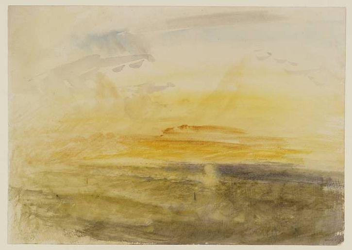 Yellow Sun over Water,