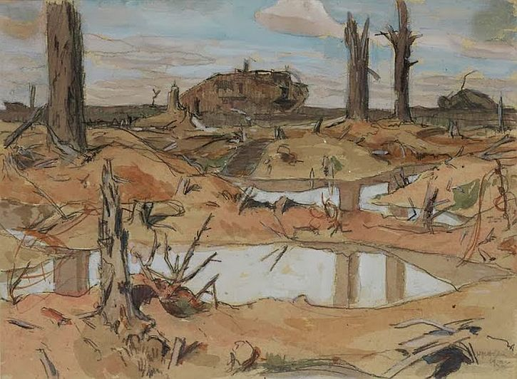 Paul Nash, Inverness Copse, 1919