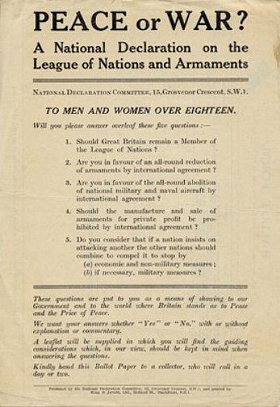 Peace Ballot 1935