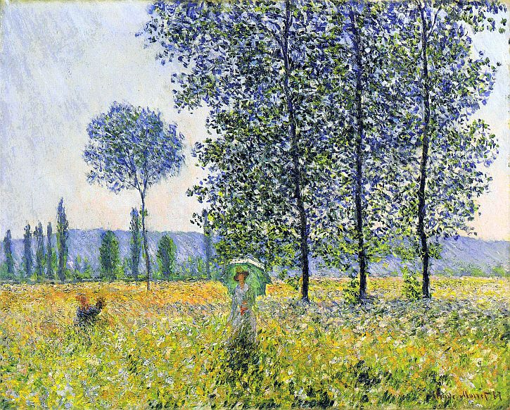 Claude Monet, Sunlight Effect under the Poplars, 1887