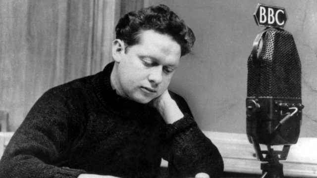 Dylan Thomas at the BBC in 1952