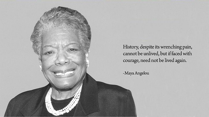 Maya Angelou: do not be wedded forever to fear | That's How The Light Gets  In