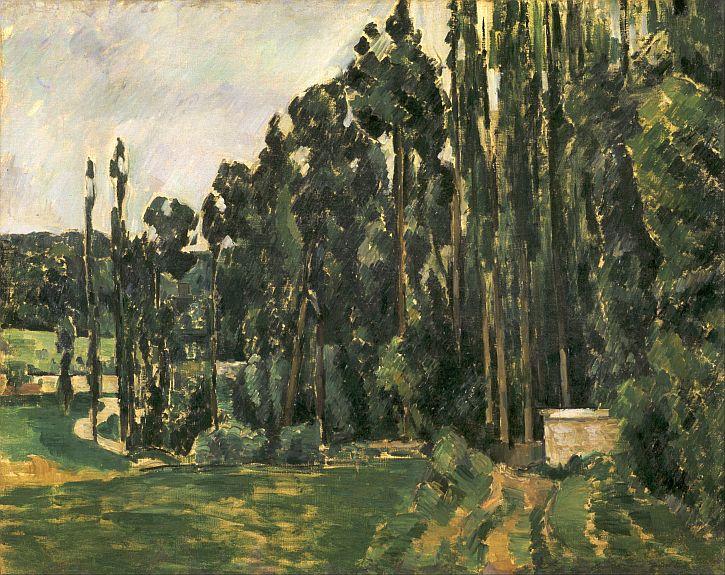 Paul Cézanne, Poplars, 1890