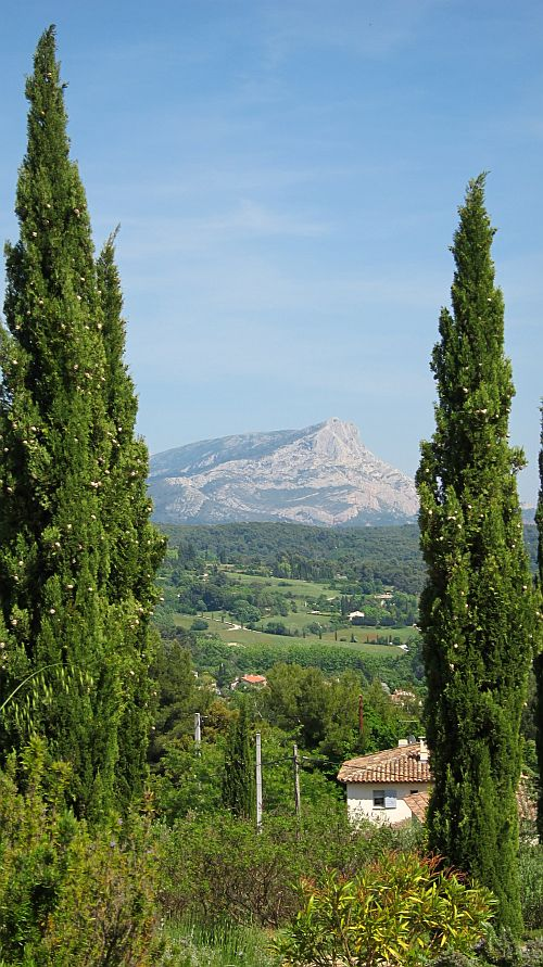 Poplars and Mont St Victoire