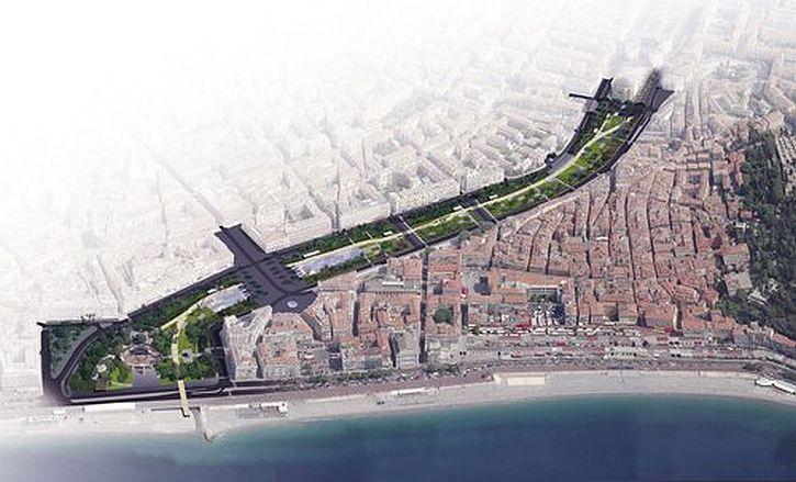 Paillon Promenade aerial