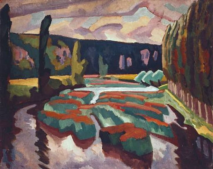 Roger Fry,River with Poplars, 1912