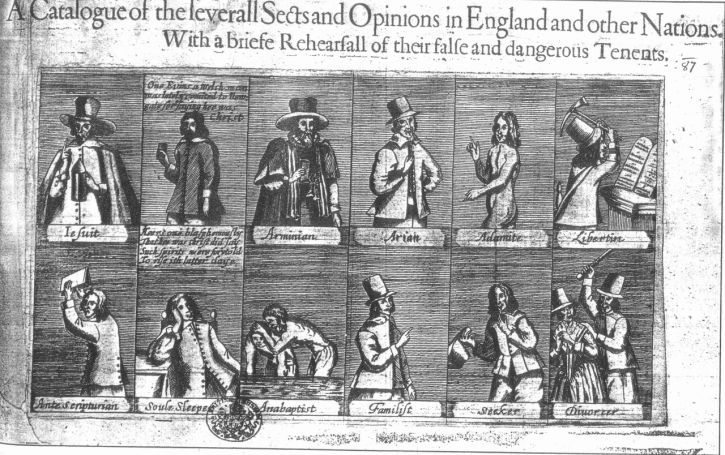 A broadsheet catalogue of dissenters in 1647