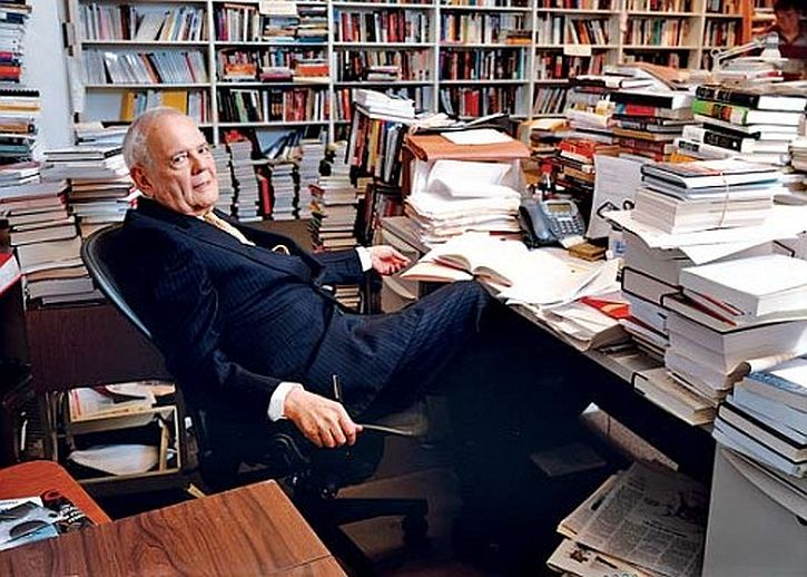 Bob Silvers in NYRB office