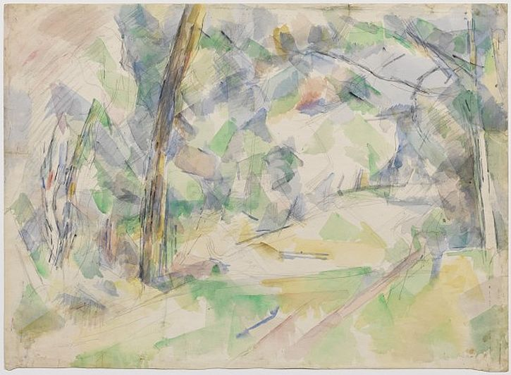 Cezanne, Forest Path, ca. 1904–06