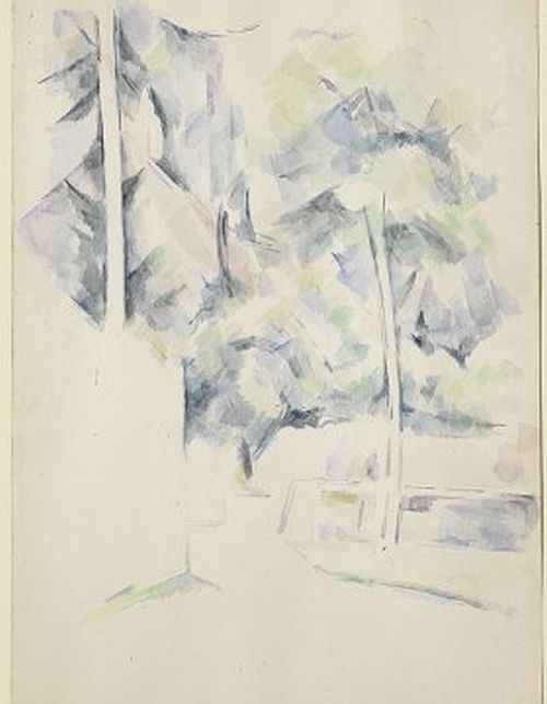 Cezanne, Path, Trees, and Walls, c 1900
