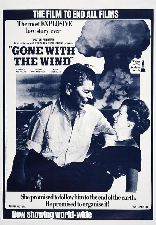 Reagan Thatcher Gone with the Wind poster