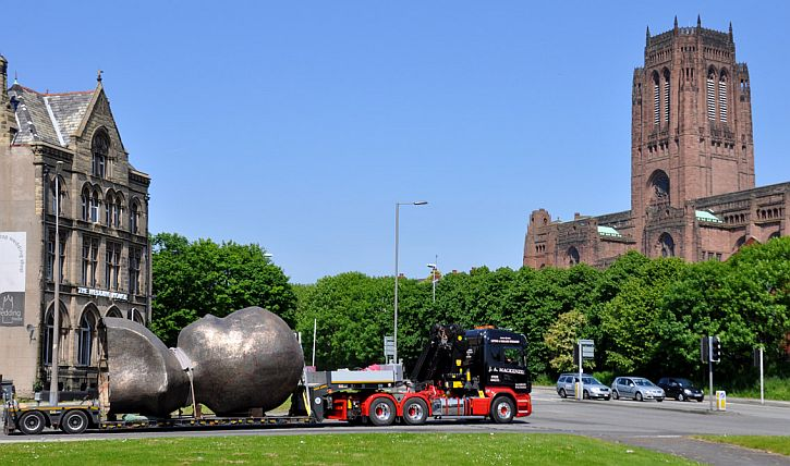 The Head passes the Anglican cathedral