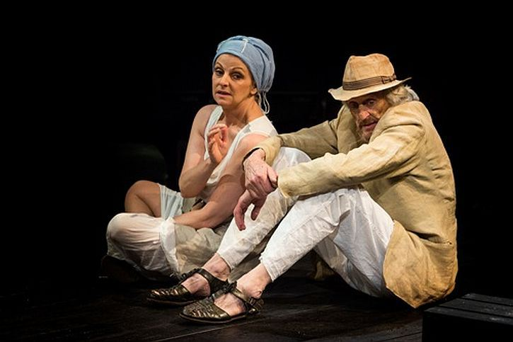 Zeus (Richard Bremmer) and his wife Hera (Gillian Bevan) in The Last Days of Troy