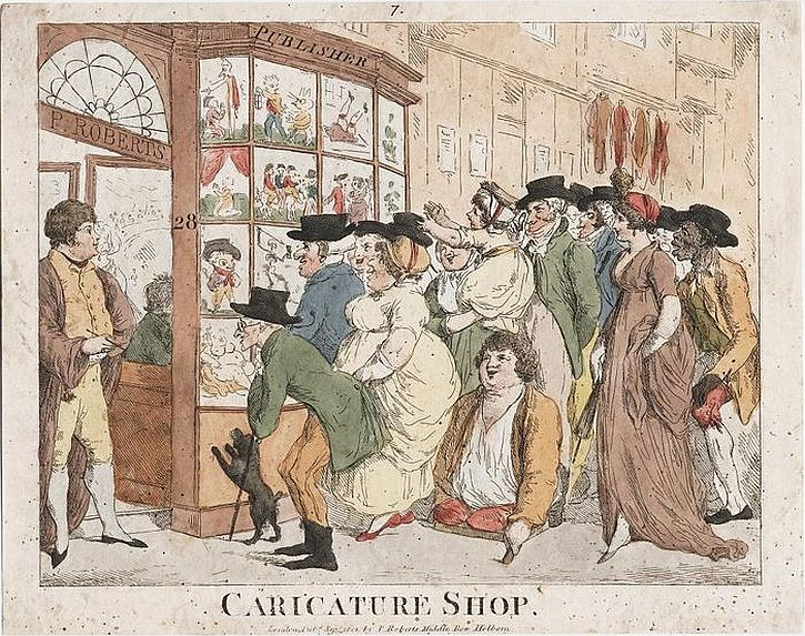 Caricature Shop, Roberts, 1801