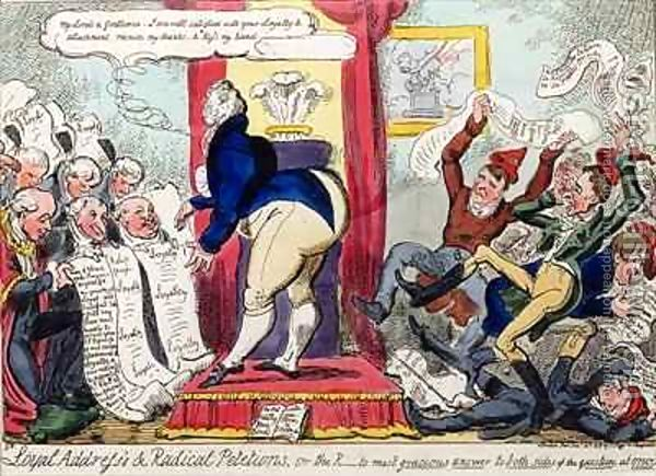 George Cruikshank, Loyal Addresses and Radical Petitions, 1819