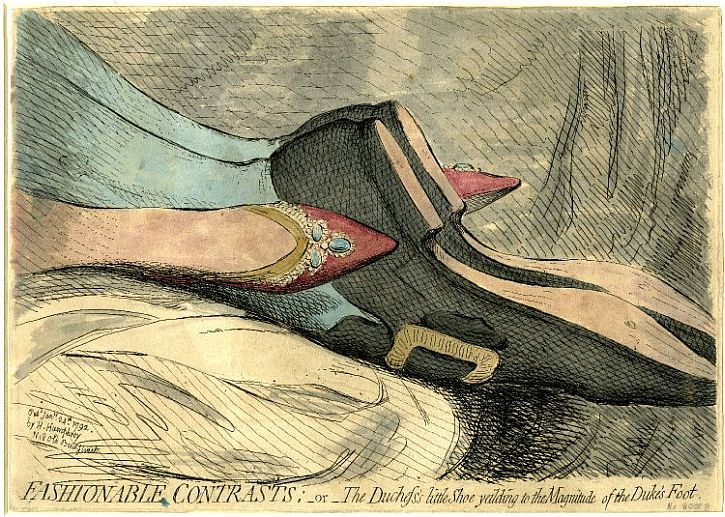 James Gillray, 'Fashionable Contrasts', 1792