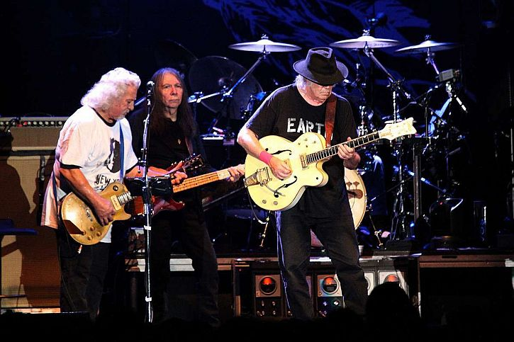 Neil Young and Crazy Horse performing at  Arena Picture Liverpool Echo 2