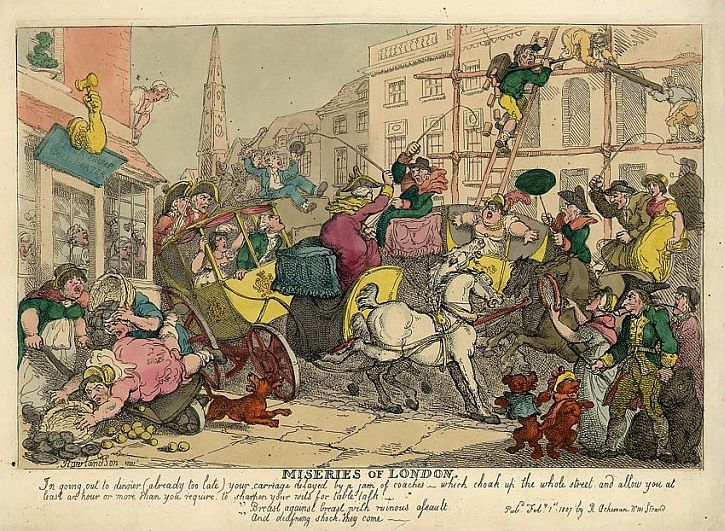 Thomas Rowlandson Miseries of London, 1808
