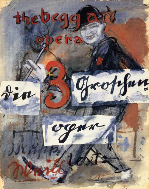 Threepenny Opera Original German poster from Berlin, 1928