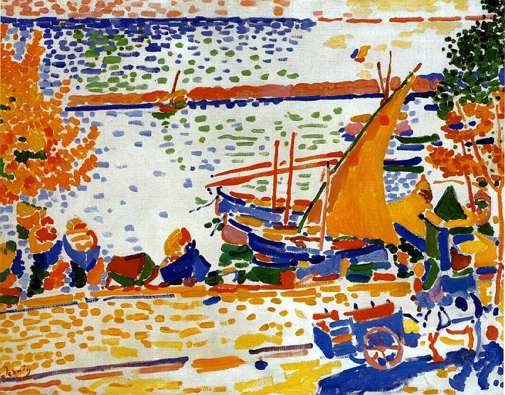 Andre Derain, Port de Collioure, le cheval blanc, 1905