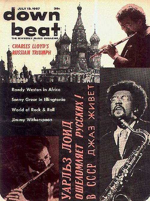 Charles Lloyd in Russia Downbeat magazine cover
