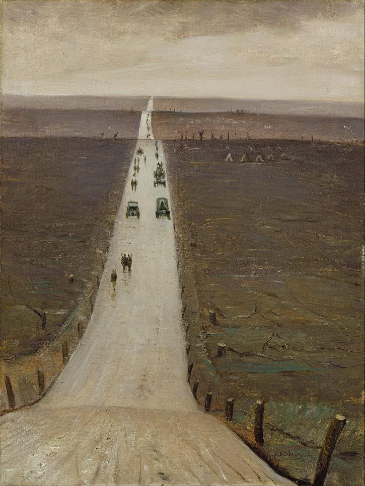 CRW Nevinson,The Road from Arras to Bapaume