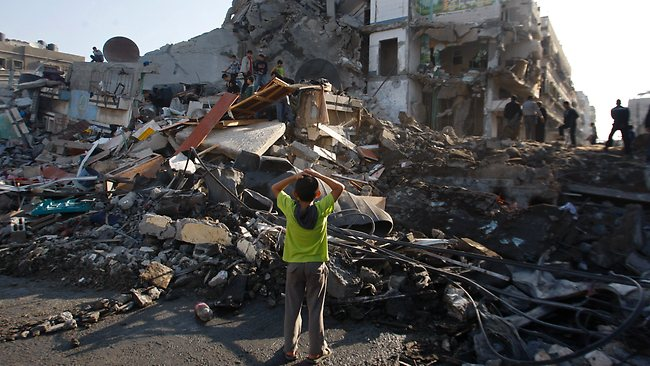 Gaza: 'The place where we are right is hard and trampled like a yard'