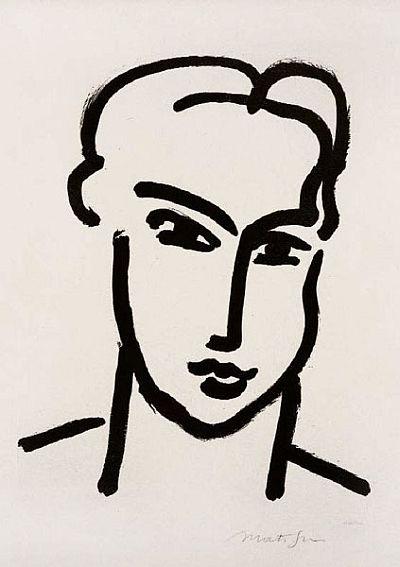 Henri Matisse, Katia Large Head, c. 1950