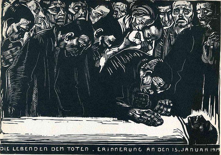 Kathe Kollwitz, Memorial for Karl Liebknecht,1919