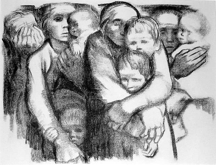 Kathe Kollwitz, Mothers, 1919