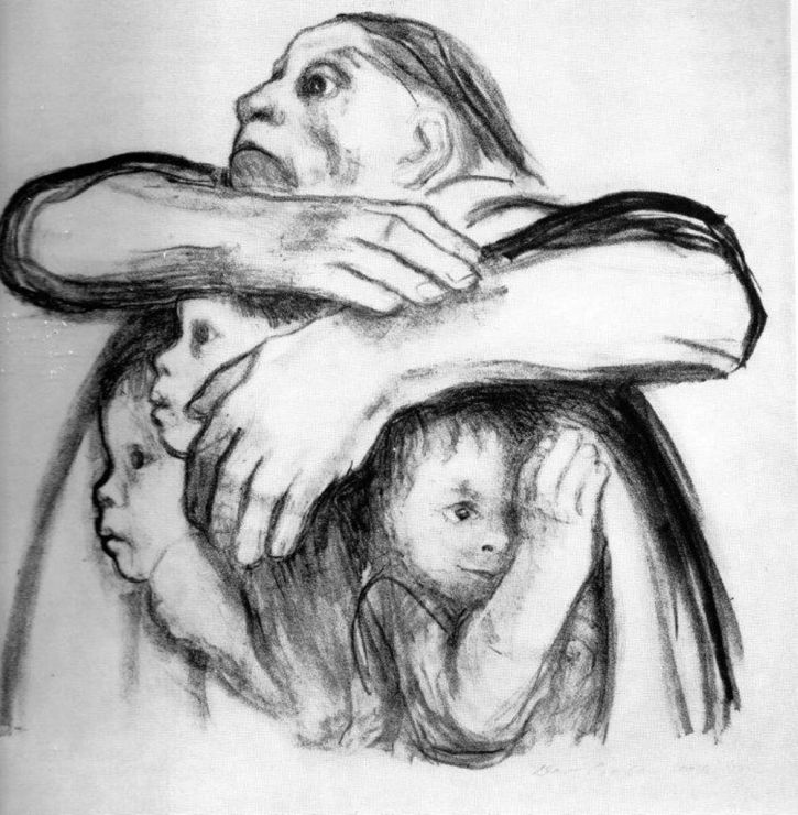 Kathe Kollwitz, Seed Corn must Not Be Ground, 1942
