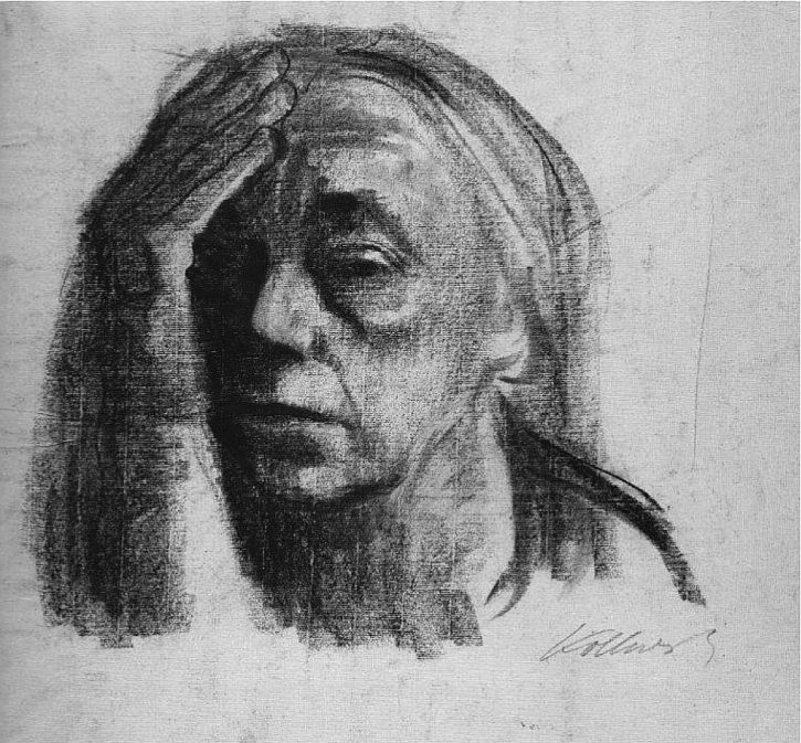 Kathe Kollwitz, Self portrait