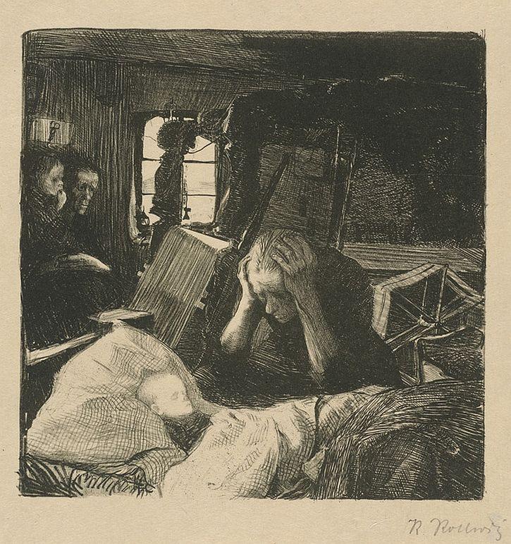 Kathe Kollwitz, The Weavers, 'Poverty' 1895