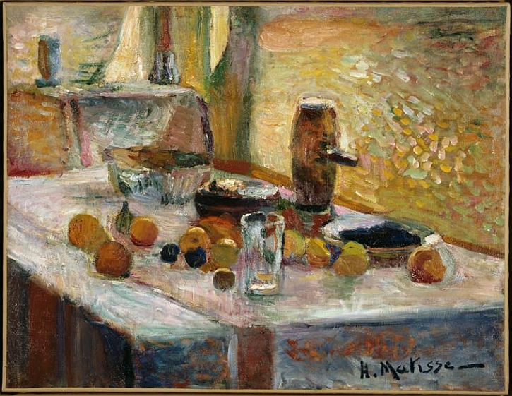 Matisse First orange still life (1898-1899)