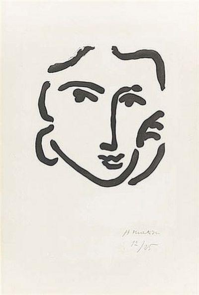 Matisse, Nadia au Regard Serieux. Aquatint, 1948