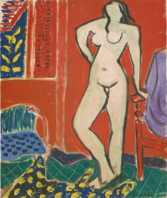 Matisse, Pink Nude, Red Interior, c.1947