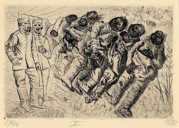 Otto Dix, Der Kreig, Gas victims – Templeux-la-Fosse, August 1916