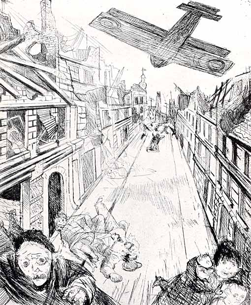 Otto Dix, Der Kreig, Lens bombarded