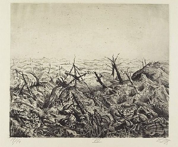 Otto Dix, Der Kreig, Near Langemark (February 1918)