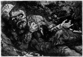 Otto Dix, Der Kreig, Wounded soldier – Autumn 1916, Bapaume